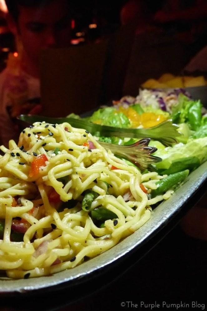 Appetizers at Spirit of Aloha Dinner Show at Disney Polynesian Resort