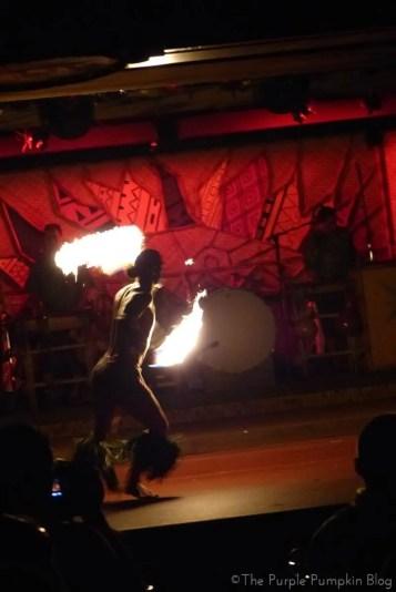 Fire Knife Dance at Spirit of Aloha Dinner Show at Disney Polynesian Resort