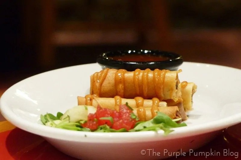 Whispering Canyon Cafe - Slow-Smoked Pulled Pork Spring Rolls