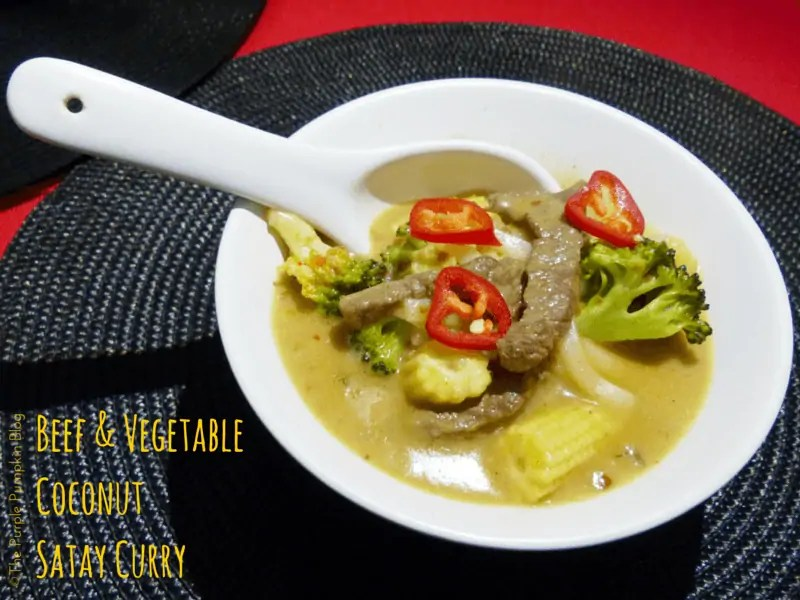 Beef and Vegetable Coconut Satay Curry
