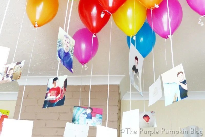 Floating Photographs with Balloons