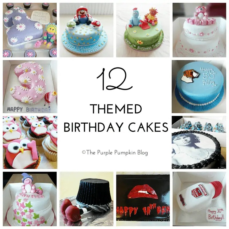 12 Themed Birthday Cakes
