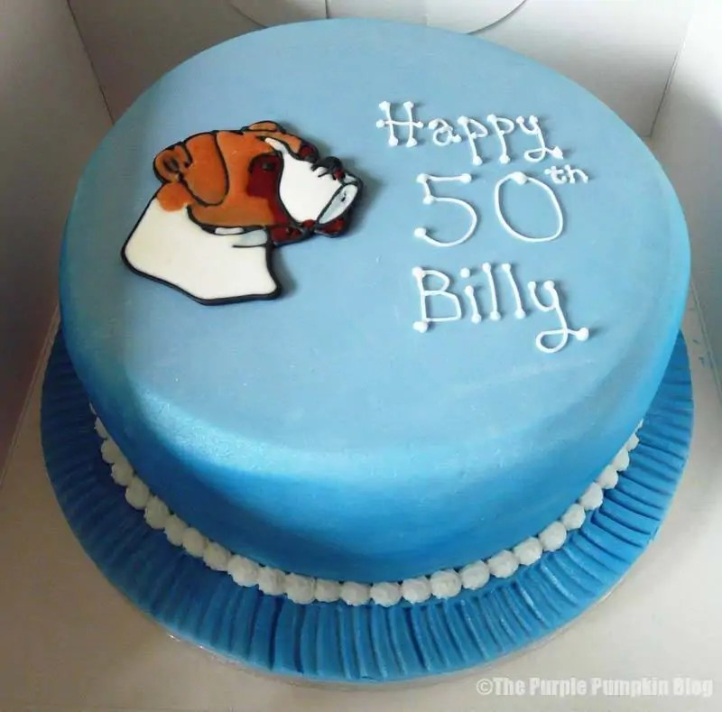 Boxer Dog 50th Birthday Cake