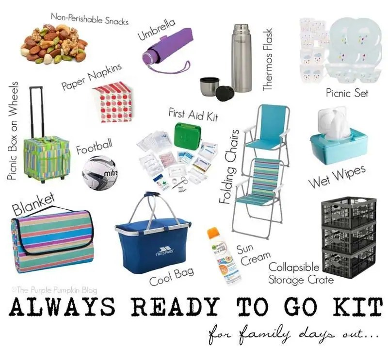 Always Ready To Go Kit For Family Days Out