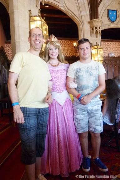 Meeting Sleeping Beauty at Cinderella's Royal Table