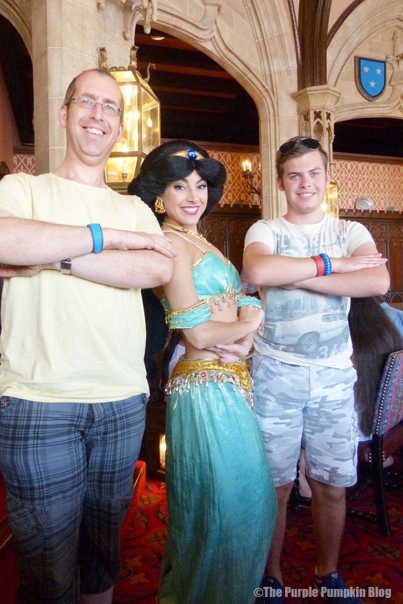 Meeting Jasmine at Cinderella's Royal Table