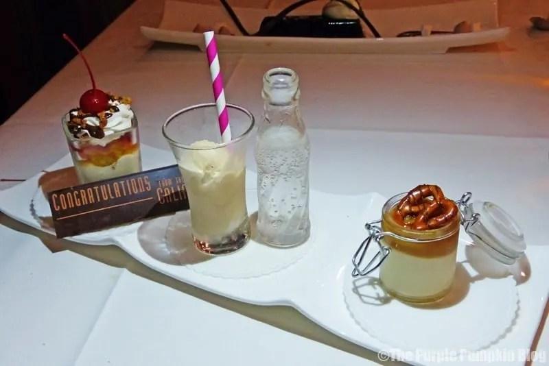 Sundae Sampler - California Grill at Disney's Contemporary Resort