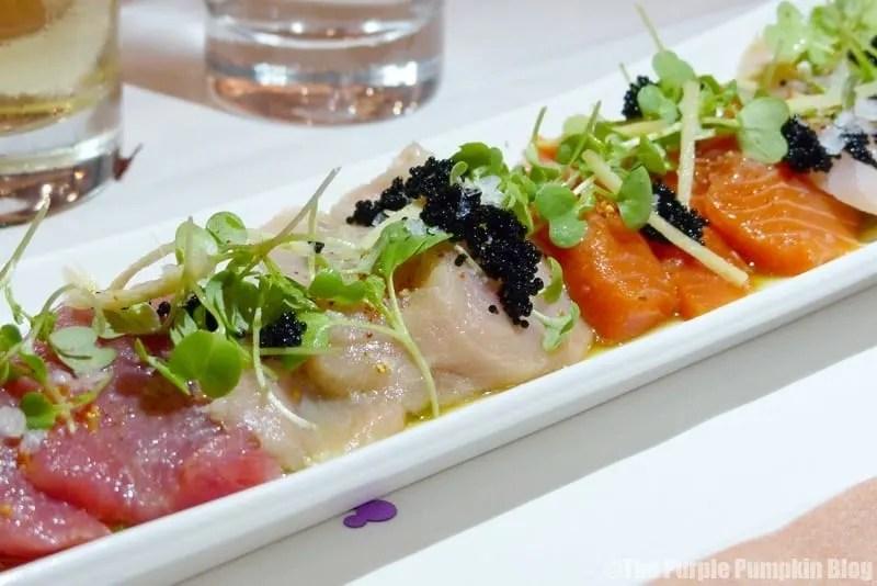 Yuzu-Marinated Sashimi - California Grill at Disney's Contemporary Resort
