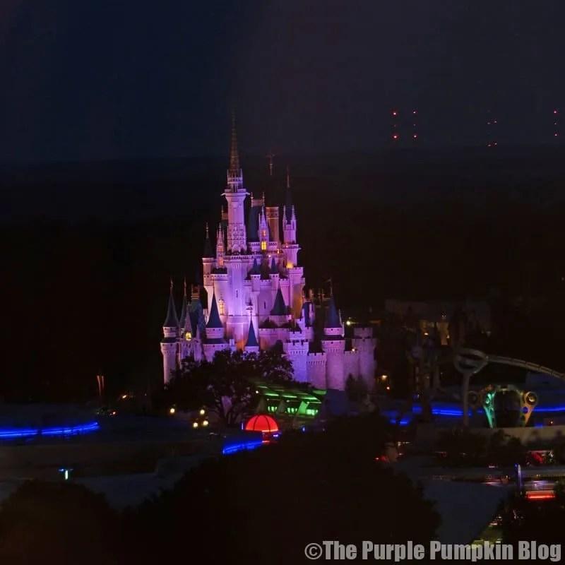 Cinderella Castle from California Grill