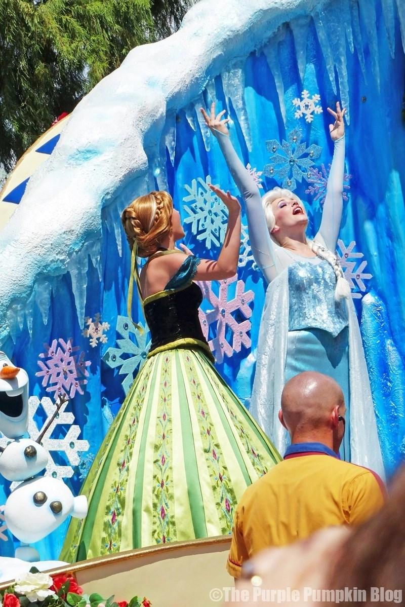 Anna & Elsa - Festival of Fantasy Parade at Disney's Magic Kingdom