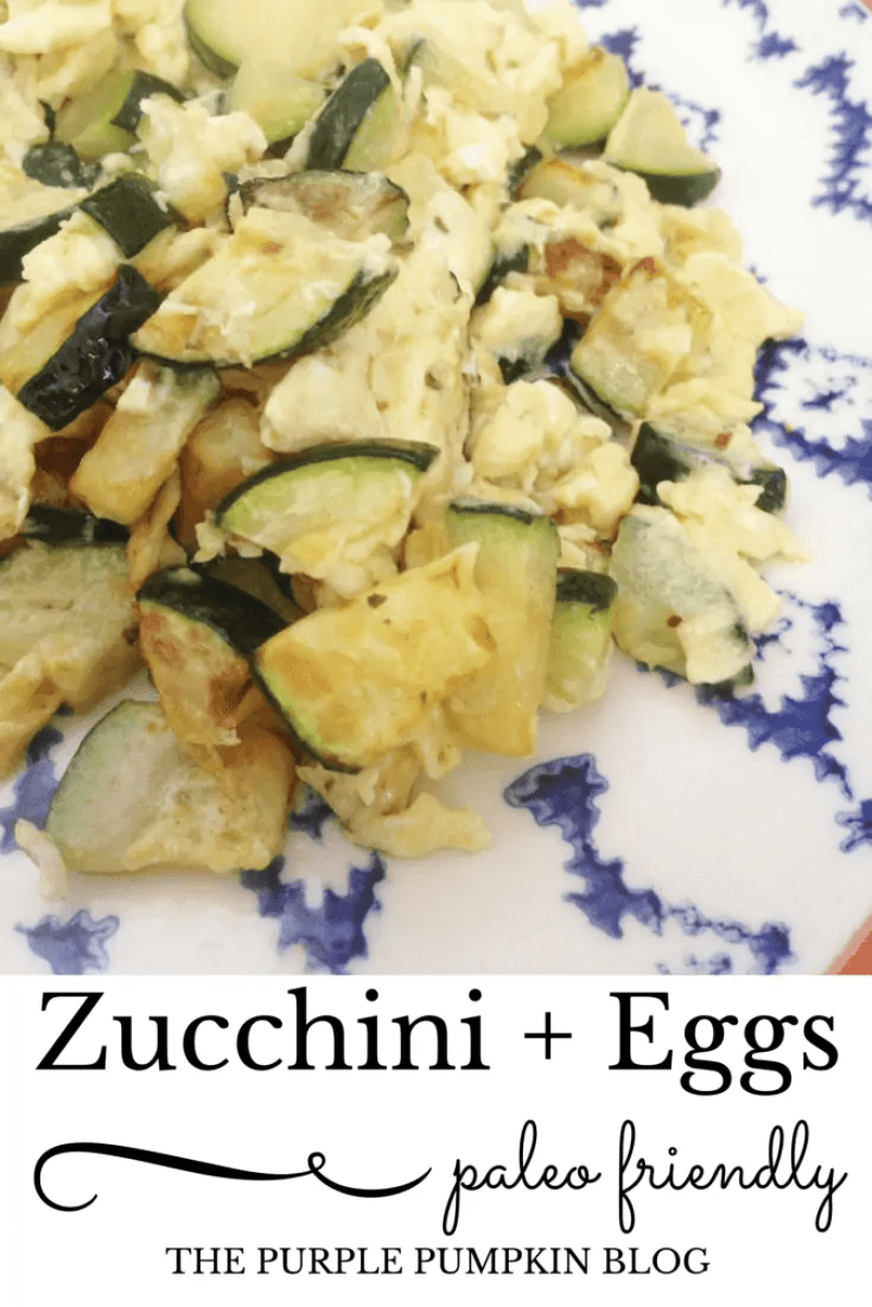 Zucchini + Eggs Paleo Lunch - a tasty dish for lunch or even breakfast from Cyprus.