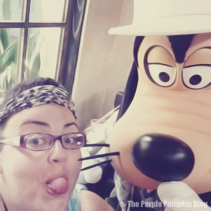 Me with Goofy at Tusker House