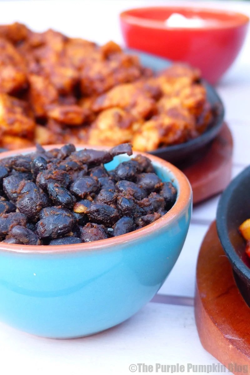 Black Beans for Mexican Fajitas
