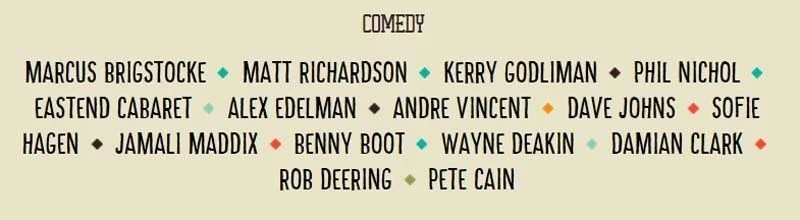 Camp Bestival Comedy Acts 2015