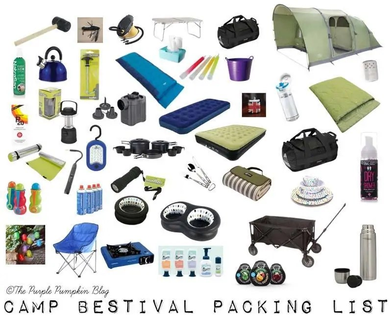 Camp Bestival Packing List - From First Timers