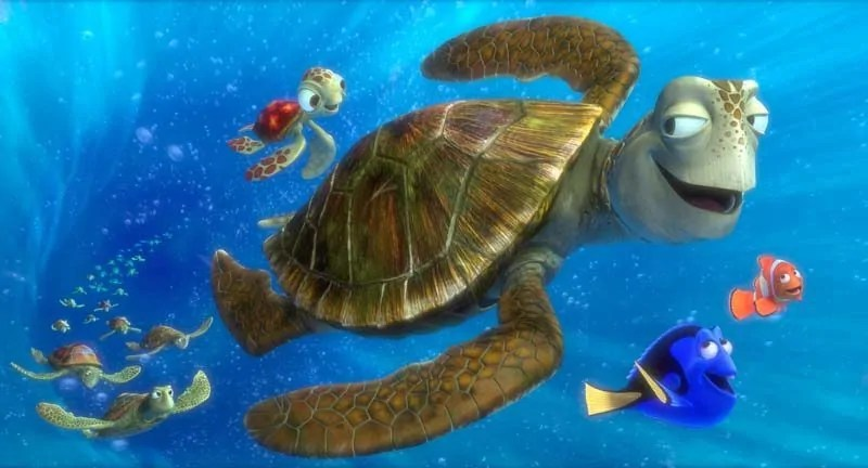 Finding Nemo - Crush, Squirt, Marlin and Dory
