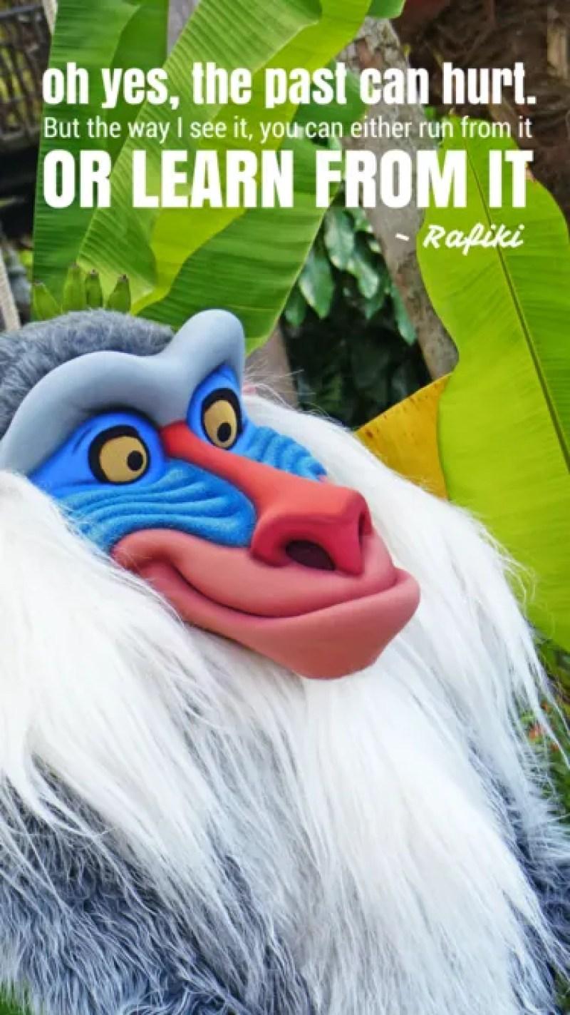 Rafiki Quote - iPhone6 Disney Wallpaper