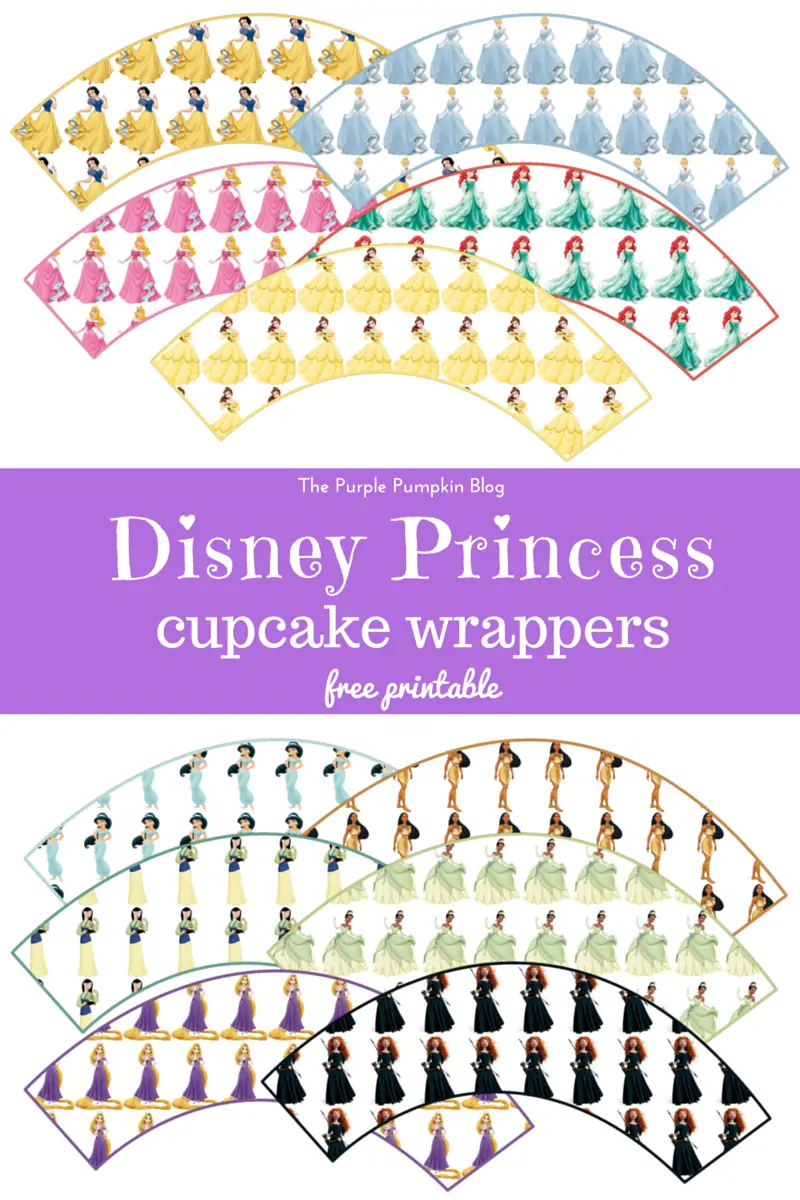 picture relating to Free Printable Cupcake Wrappers identified as Disney Princess Cupcake Wrappers - Totally free Printable