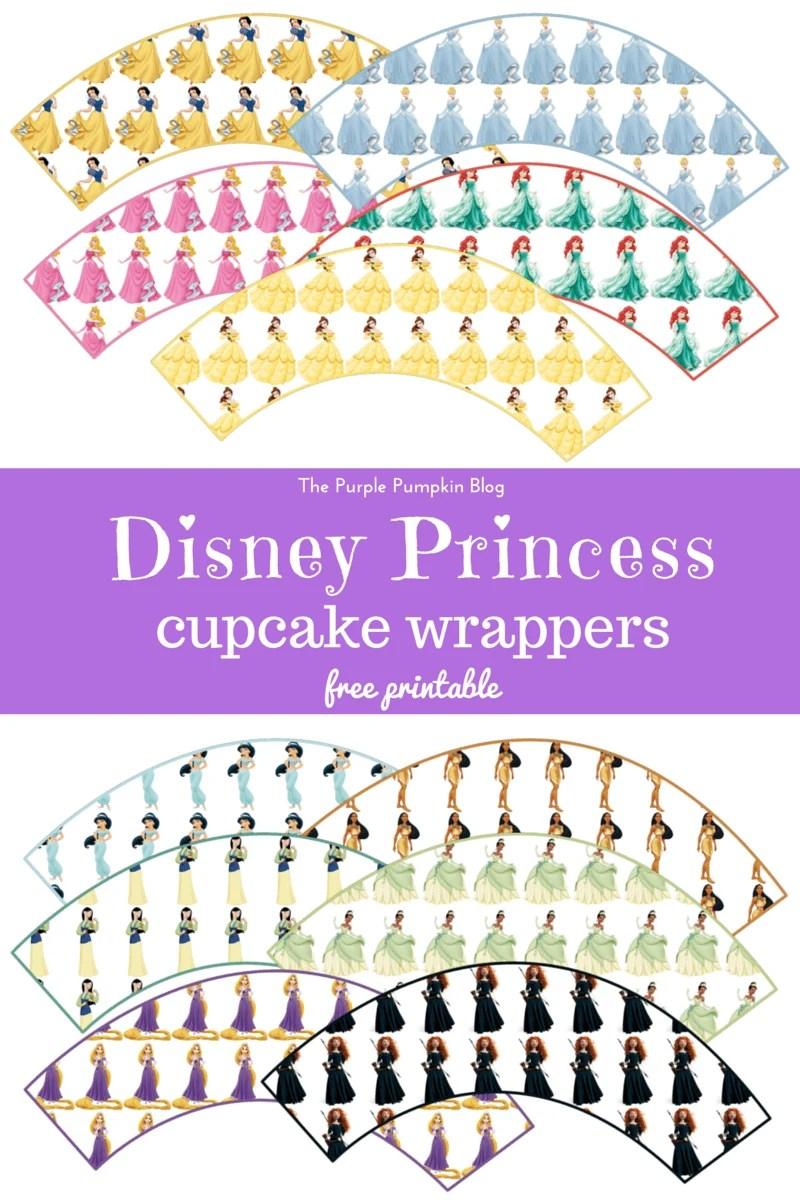 Disney Princess Cupcake Wrappers - Free Printable