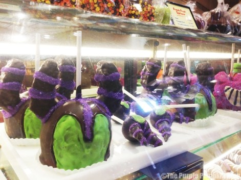 Disney Snacks - Maleficent Candy Apples