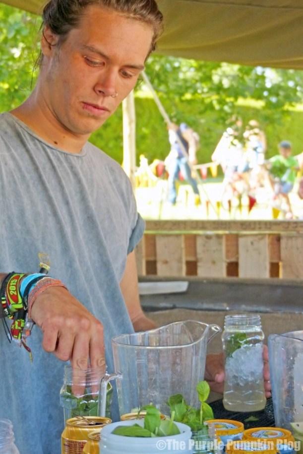 Josie Da Banks Jam Jar Bar at Camp Bestival