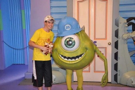 Meeting Mike Wazowski at Hollywood Studios