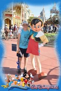 Meeting Pinocchio at Magic Kingdom