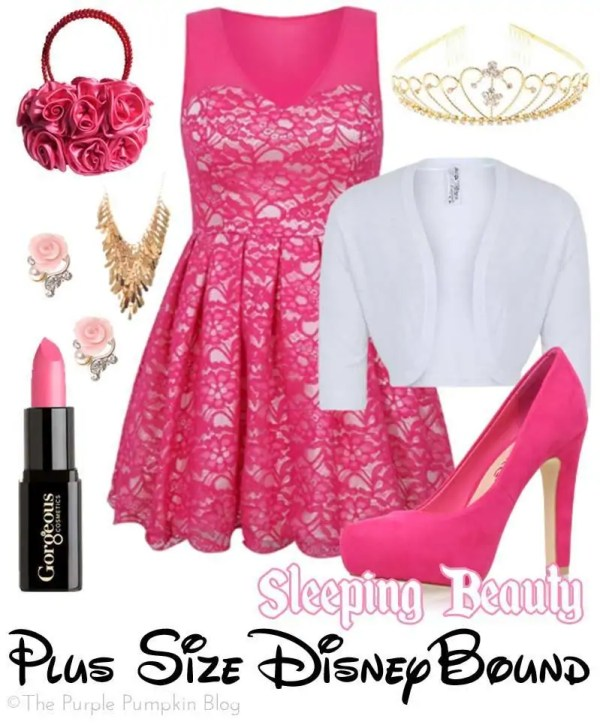 Sleeping Beauty - Plus-Size DisneyBound - great for a party or night out!