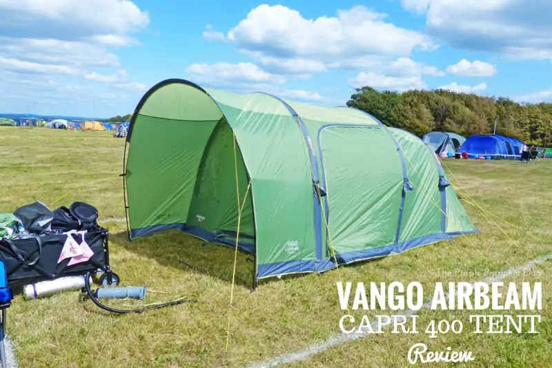 Vango Airbeam Capri 400 Tent Review - an easy to pitch and pack away tent, great for small families, or a luxury tent for just the two of you!