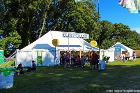 WI Tea Tent at Camp Bestival