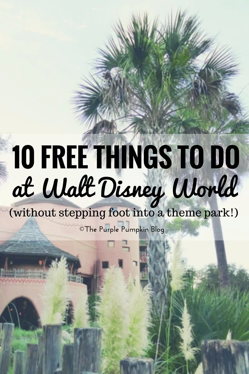 10 Free Things To Do At Walt Disney World (Without Stepping Foot Into A Theme Park!) You'll be amazed at all the awesome things you can do around Walt Disney World without having to pay a thing!