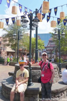 The Boy & Hubby at Magic Kingdom