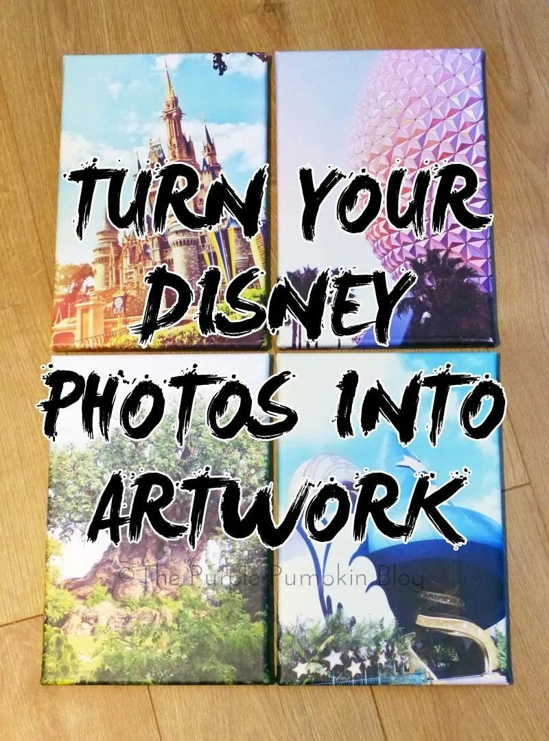 Turn Your Disney Photos Into Artwork - don't let your favorite Disney photos sit forever on your computer or memory card - turn them into artowrk for your home to show your DisneySide!