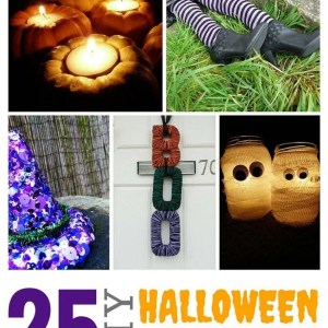 25 DIY Halloween Decorations - lots of great ideas here to decorate the home at Halloween!