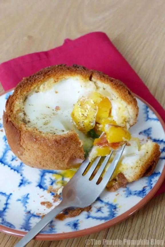 Bacon + Egg Bread Bowl