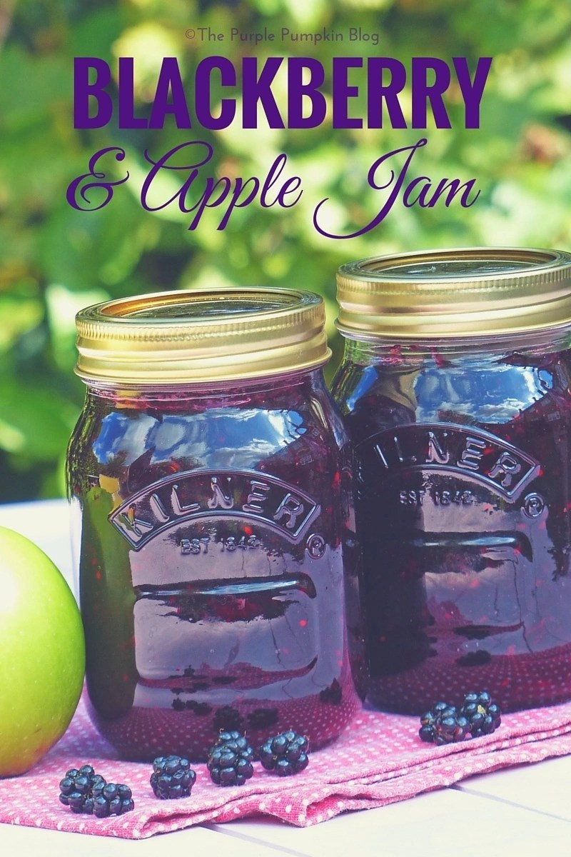 Blackberry + Apple Jam - so easy to make, and great for using a glut of fruit from your garden!