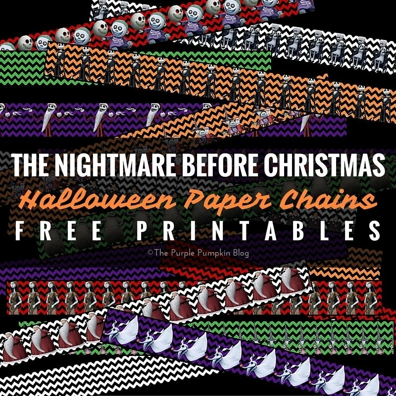 The Nightmare Before Christmas - Halloween Paper Chains Printables. There are also loads of party printables that match these!