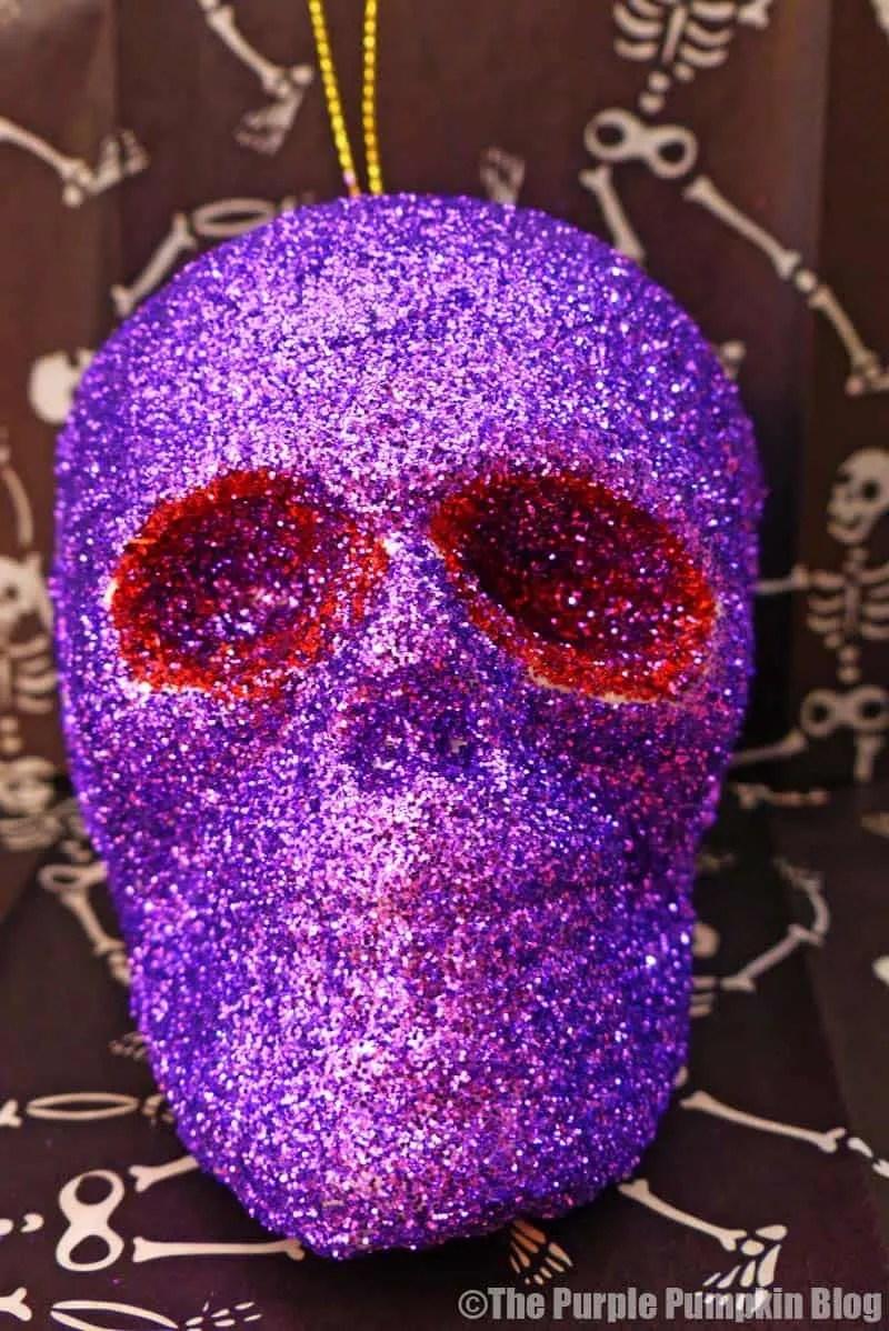 glitter skulls halloween decorations - Glitter Halloween Decorations