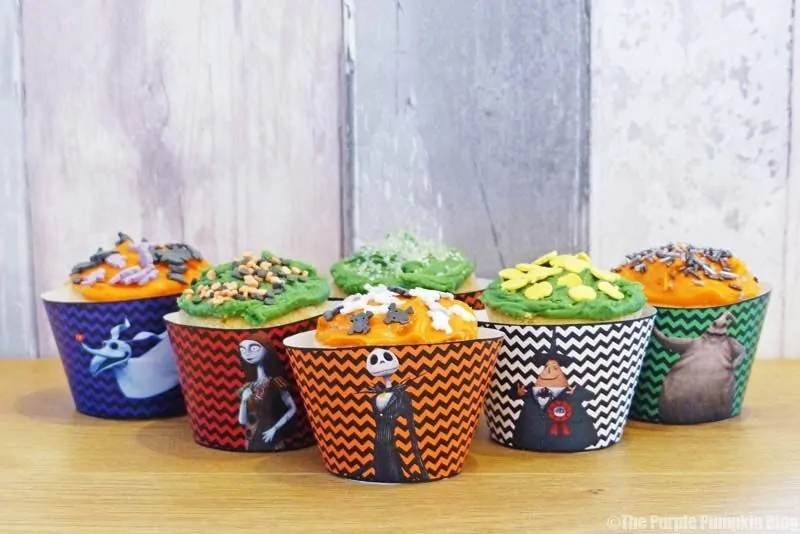 Halloween Cupcake Wrappers - The Nightmare Before Christmas - Free Printables