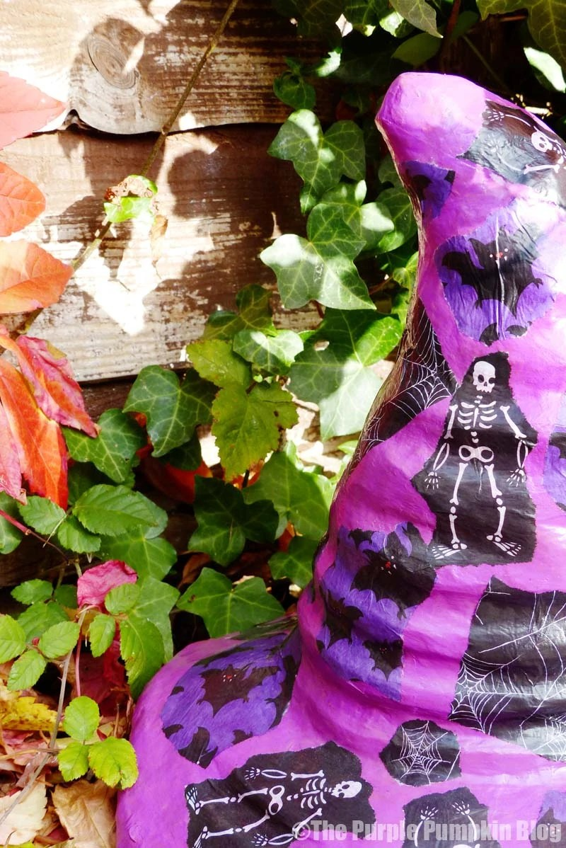 How To Decoupage a Witch Hat for Halloween