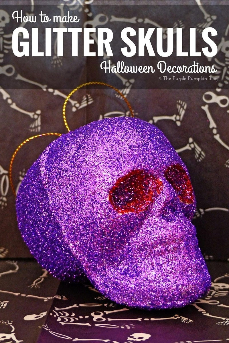 how to make glitter skulls halloween decorations - Glitter Halloween Decorations