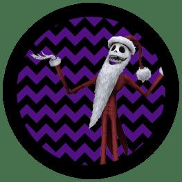 Nightmare Before Christmas - Jack Skellington Santa - Halloween Toppers