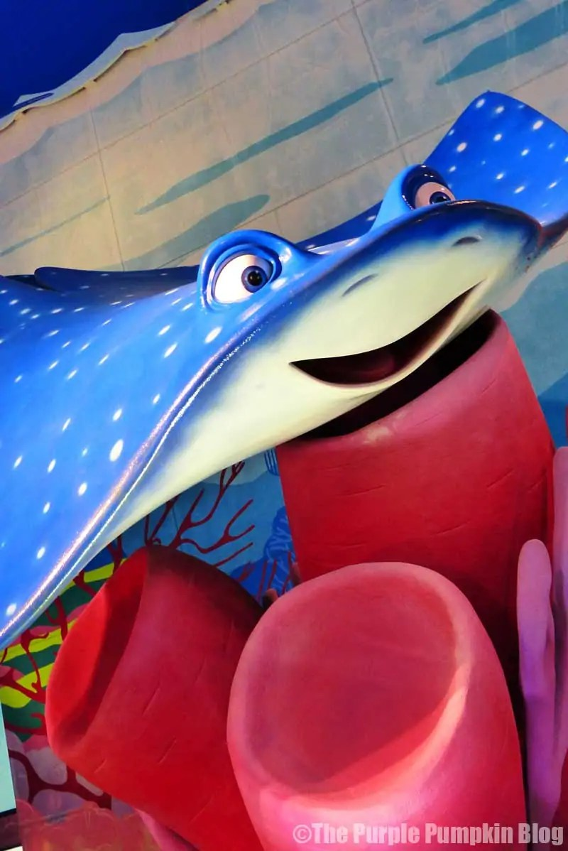 Disney Art of Animation - Finding Nemo Courtyard - Mr Ray Statue