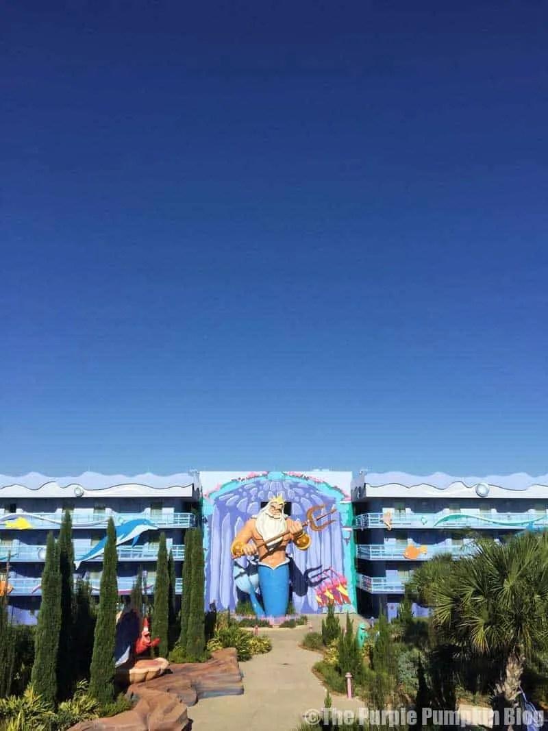 Disney Art of Animation - The Little Mermaid Courtyard - King Triton Statue