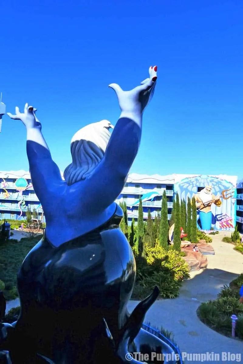Disney Art of Animation - The Little Mermaid Courtyard - Ursula Statue (1)
