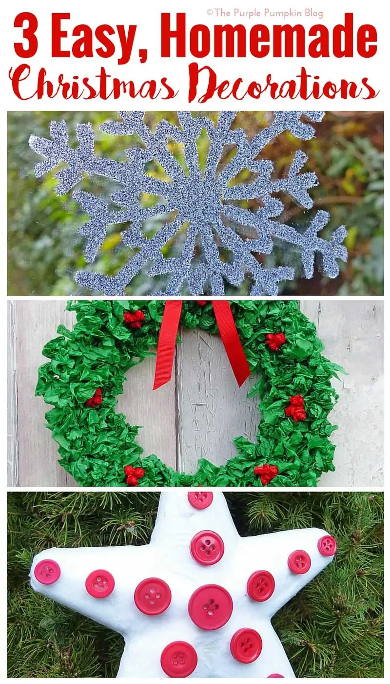 3 easy homemade christmas decorations simple crafts to make with the kids during the