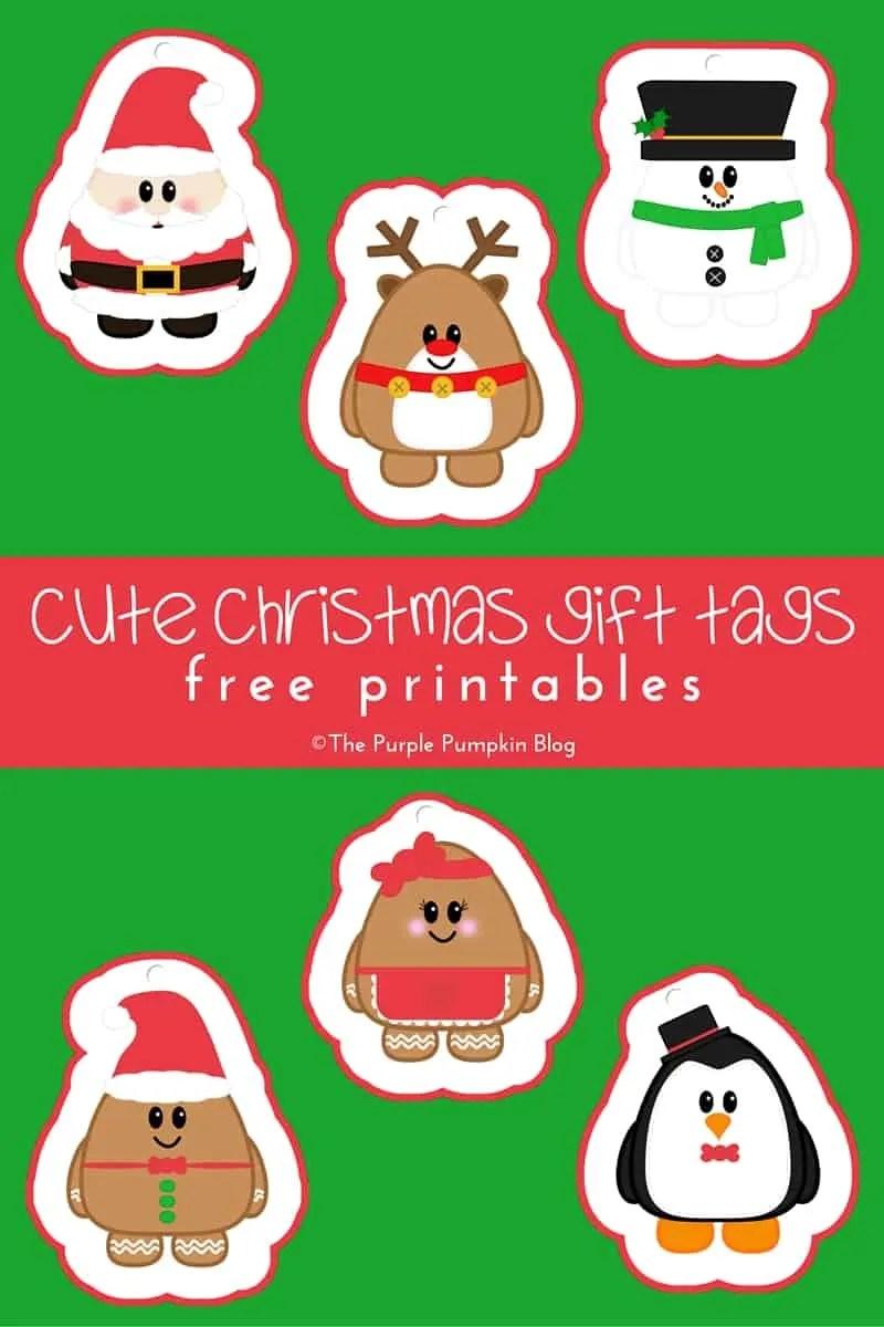 Cute Christmas Gift Tags - Free Printables