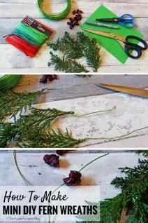 How to make easy DIY fern mini fern wreaths