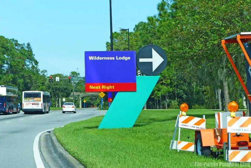 Wilderness Lodge Road Sign