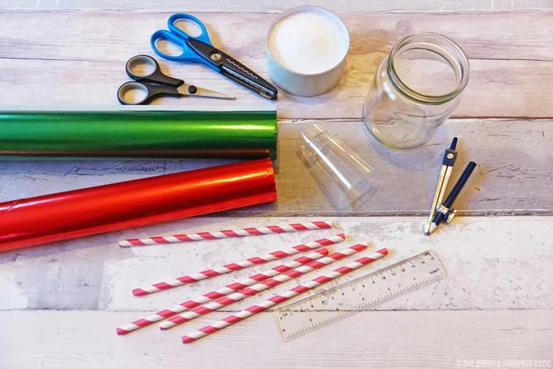 Wrapping Paper Christmas Tree Cones - Material Required